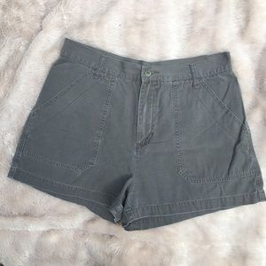 Vintage Olive Green High Waisted AE Jean Shorts